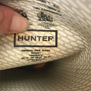 Hunter Shoes - {Hunter} Purple Girls Glossy Rain Boots